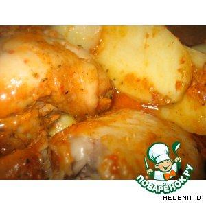 Рецепт Курица по-домашнему с картошкой