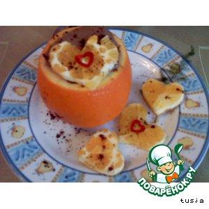 Рецепт Оранжевая любовь (к дню святого Валентина)