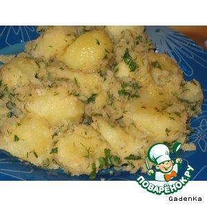 Рецепт Картошечка «Салат на гарнир»