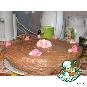 """Рецепт Шоколадный тортик """"Удар по талии"""""""