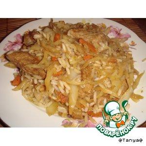 капуста с фаршем и рисом рецепт с фото