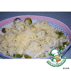 Рецепт Брюсселька в сырно-сливочном соусе