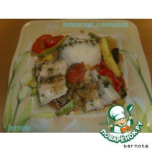 Рецепт Пангасиус с овощами