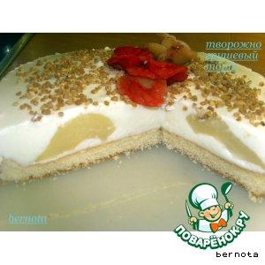 Рецепт Творожно-грушевый торт