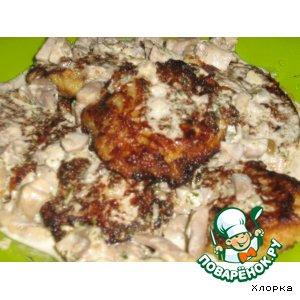 Рецепт Картофельно-капустные котлетки с грибным соусом