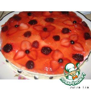 """Рецепт Творожно-фруктовый торт """"Наслаждение"""""""