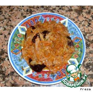 Тушеная капустка с черносливом рецепт с фотографиями пошагово как готовить