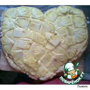 """Рецепт Пирог  """"Творожно-ананасовое сердце"""""""