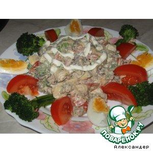 Рецепт Салат из куриной печенки