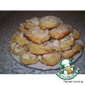 """Рецепт Печенье творожное с безе """"Розочки"""""""
