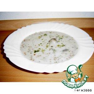 Рецепт Супчик сливочно-грибной с гречкой