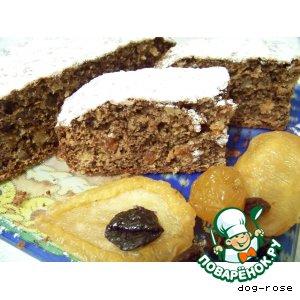 Рецепт Шоколадный кекс с сухофруктами
