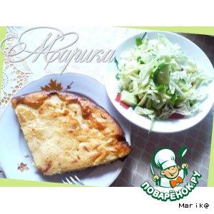 Рецепт Сытный пирог с картофельно-сырной начинкой
