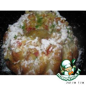 Рецепт Сливочный кекс с кремом из сливочного сыра и цукатами