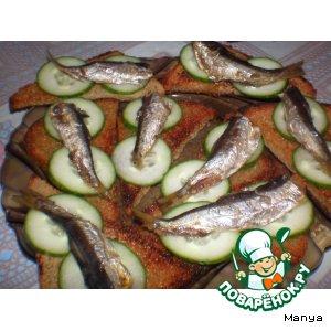 Рецепт Канапушки со шпротами