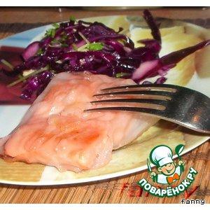Рецепт Кусочки рыбы в рисовой бумаге