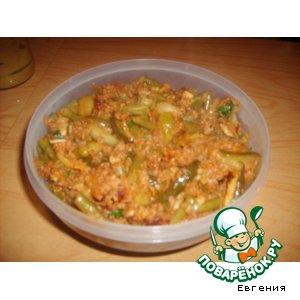 Рецепт Теплый салат со стручковой фасолью