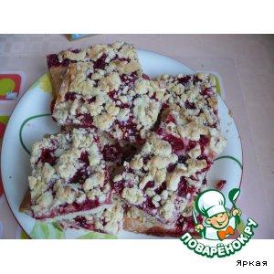 Рецепт Пирог яблочно-брусничный