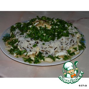 Рецепт Жареные кальмары в рисовом кольце