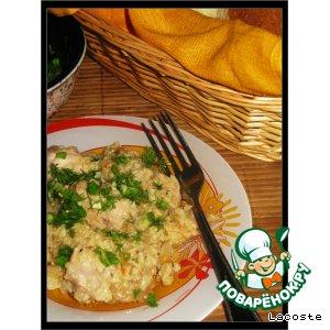 Рецепт Курица с пшеном и кислой капустой