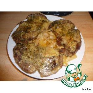 Рецепт Мяско в соево-чесночном маринаде и сырном кляре
