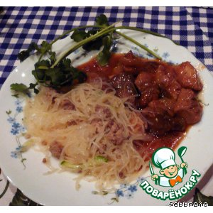 Рецепт Китайский салат с древесными грибами