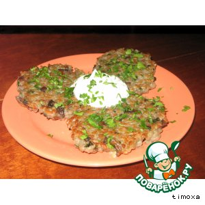 Рецепт Рисовые биточки с грибами