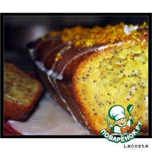 Рецепт Медово-апельсиновый кекс с маком