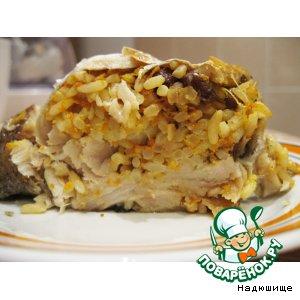 Рецепт Рыба, фаршированная рисом с изюмом