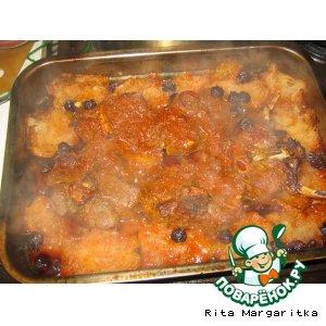 Рецепт Мясо, запеченное с яблоками и изюмом