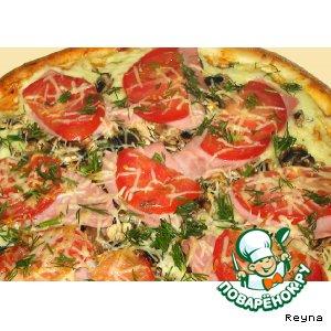 Готовим рецепт приготовления с фотографиями Пицца - супербыстрая