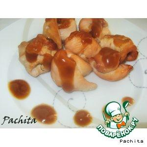 Рецепт Куриный шашлычок с кленовым соусом