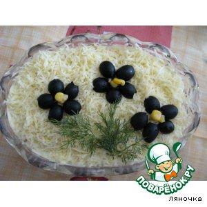 """Рецепт Салат """"Юбилейный"""" с мясом и грибами"""