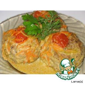 Рецепт Мясные шарики в морковно-сливочном соусе