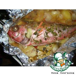 Рецепт Рыбка, запеченная в фольге