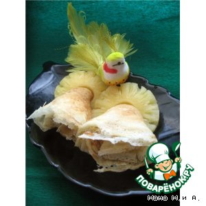 Рецепт Блинчики ананасовые