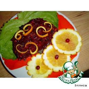 Рецепт Десертный салатик со свеклой