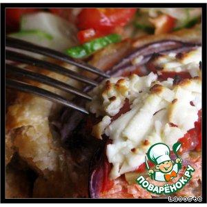 Вкусный рецепт приготовления с фото Форель, запеченная в тесте, под овечьим сыром