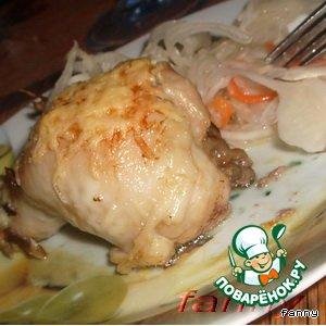 Рецепт Куриные голени, фаршированные грибами и печенкой