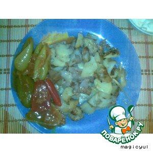"""Рецепт: Жареный картофель с соусом """"Тар-тар"""""""