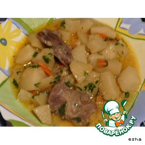 Рецепт Баранина с картофелем