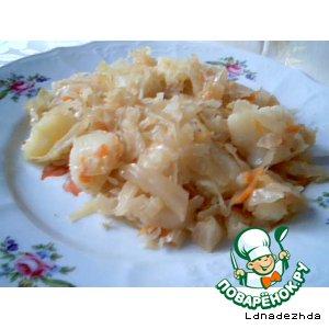 Рецепт Капуста квашеная тушеная с картошкой