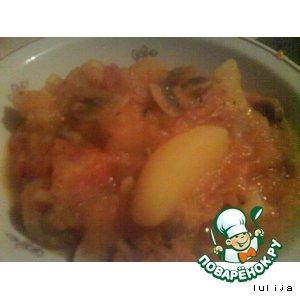 Рецепт Картошечка тушeная с грибами