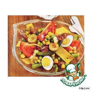 Рецепт Салат из телятины с овощами