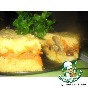 """Рецепт Пшeный торт с грибами или """"Просто блаженство"""""""
