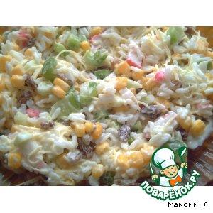 Крабовый салат или Солянка Вкусностей рецепт приготовления с фотографиями как приготовить
