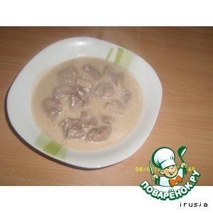 Рецепт Лицуклибже (тушеное мясо в сметанном соусе)