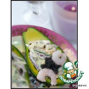 Рецепт Закуска из авокадо с креветками