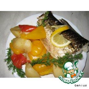 """Рецепт Запеченая рыбка с овощами  """"Для себя Любимой... """""""
