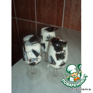 Рецепт Кубики кофейного желе в молоке